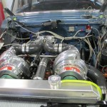Twin T engine compartment