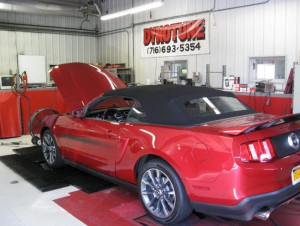 Mustang cobra on Kennedy's dyno getting tuned