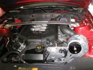 Supercharged 2011 Mustang Cobra Engine Compartment