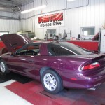 Purple camaro on dyno