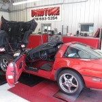 Red Corvette on Dyno