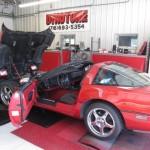 Red Corvette on Dyno