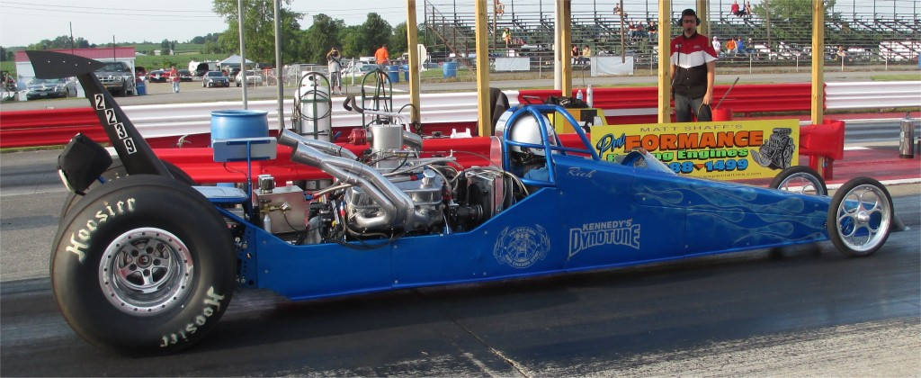 Kennedy's Sponsored Rear Engine Dragster