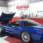 Customers Blue Corvette