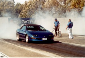 Fbody burnout at the track