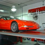 Supercharged Z06 on the dyno