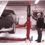 Bob Kennedy from Kennedy's dynotune working on a supercharged corvette