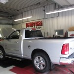 Ram pickup truck on Kennedys AWD Dyno